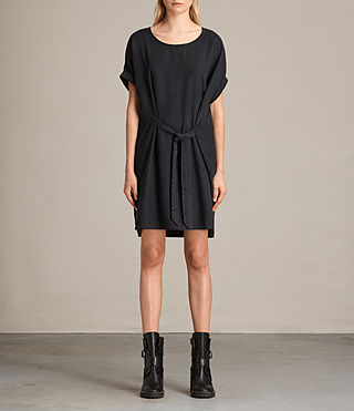 Womens Sonny Tencel Dress (Dark Grey) - product_image_alt_text_1