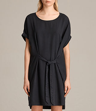 Womens Sonny Tencel Dress (Dark Grey) - product_image_alt_text_2