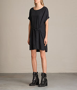 Womens Sonny Tencel Dress (Dark Grey) - product_image_alt_text_5