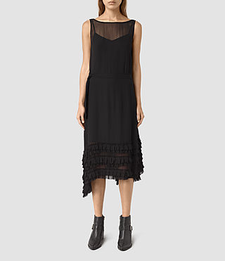 Womens Emrys Tie Dress (Black) - product_image_alt_text_1