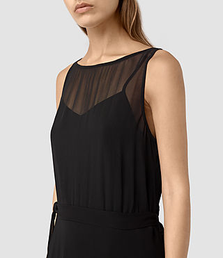 Mujer Emrys Tie Dress (Black) - product_image_alt_text_2