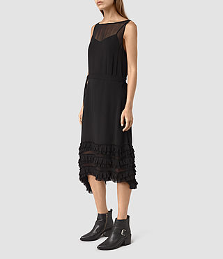 Mujer Emrys Tie Dress (Black) - product_image_alt_text_3