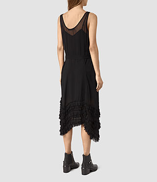 Mujer Emrys Tie Dress (Black) - product_image_alt_text_4