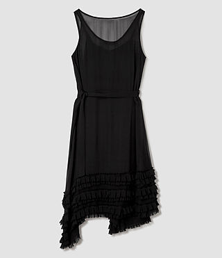 Mujer Emrys Tie Dress (Black) - product_image_alt_text_5