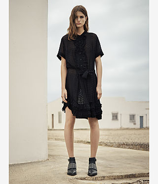 Womens Abel Emrys Dress (Black) - product_image_alt_text_6