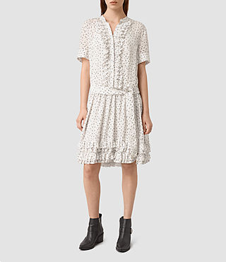 Womens Abel Emrys Print Dress (Chalk White)