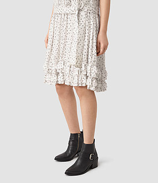 Mujer Abel Emrys Print Dress (Chalk White) - product_image_alt_text_2