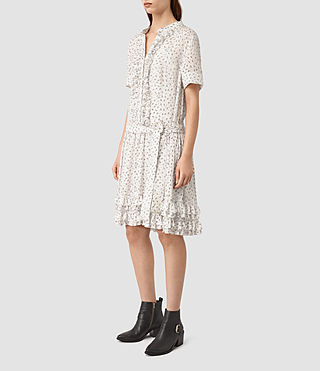 Womens Abel Emrys Print Dress (Chalk White) - product_image_alt_text_3