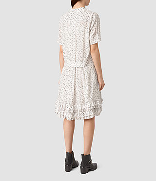 Mujer Abel Emrys Print Dress (Chalk White) - product_image_alt_text_4