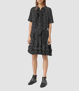 Womens Abel Emrys Print Dress (Black) - product_image_alt_text_1