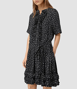 Womens Abel Emrys Print Dress (Black) - product_image_alt_text_2