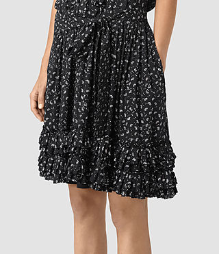 Womens Abel Emrys Print Dress (Black) - product_image_alt_text_3