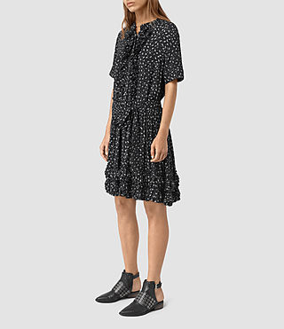 Womens Abel Emrys Print Dress (Black) - product_image_alt_text_5