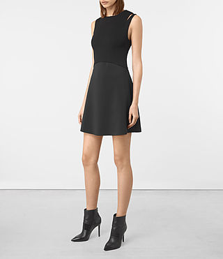 Womens Sandy Dress (Black) - product_image_alt_text_1