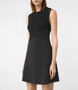 Womens Sandy Dress (Black) - product_image_alt_text_2