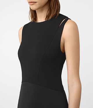 Womens Sandy Dress (Black) - product_image_alt_text_3