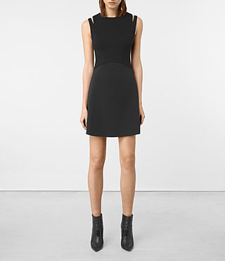 Womens Sandy Dress (Black) - product_image_alt_text_4