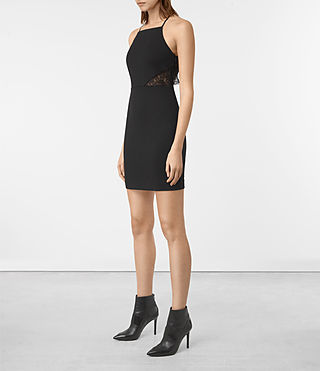 Damen Mala Dress (Black) - product_image_alt_text_4