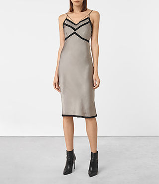 Womens Zemery Dress (Khaki Green) - product_image_alt_text_1