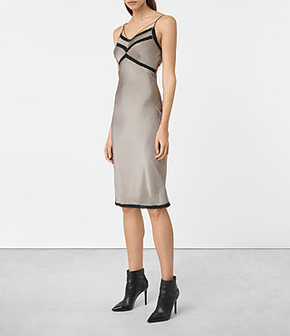 Damen Zemery Dress (Khaki Green) - product_image_alt_text_3