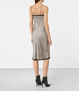 Womens Zemery Dress (Khaki Green) - product_image_alt_text_4