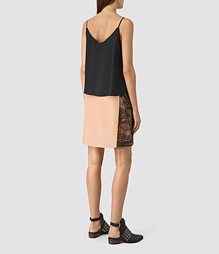 Donne Alena Silk Slip Dress (Rose Pink/Black) - product_image_alt_text_5
