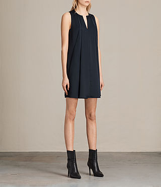 Womens Bea Dress (Midnight Blue/Blk) - product_image_alt_text_3