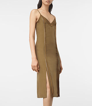 Womens Perry Silk Dress (Tobacco Gold) - product_image_alt_text_2