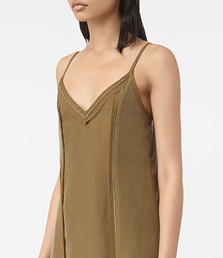 Womens Perry Silk Dress (Tobacco Gold) - product_image_alt_text_4