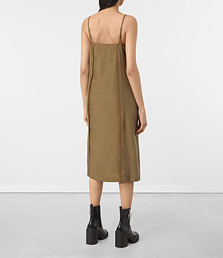 Womens Perry Silk Dress (Tobacco Gold) - product_image_alt_text_5