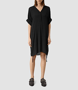 Womens Isle Dress (Black) - product_image_alt_text_1