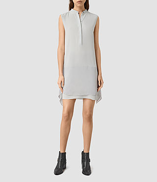 Donne Isha Silk Dress (MIRAGE GREY)