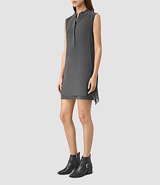 Donne Isha Dress (Gunmetal) - product_image_alt_text_3