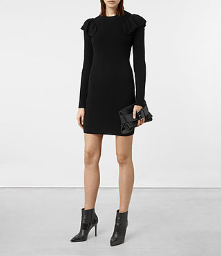 Women's Derley Knitted Dress (Black)