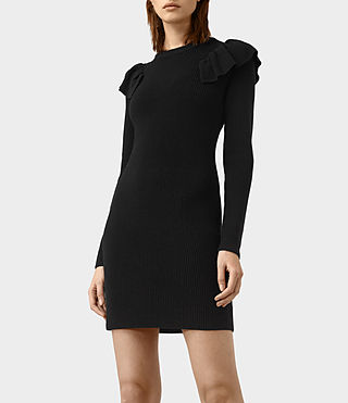 Mujer Derley Dress (Black) - product_image_alt_text_2