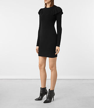 Mujer Derley Dress (Black) - product_image_alt_text_3