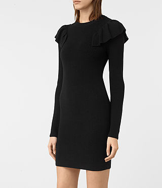 Mujer Derley Dress (Black) - product_image_alt_text_5