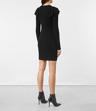 Mujer Derley Dress (Black) - product_image_alt_text_6