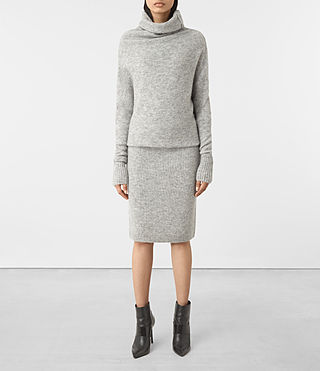 Womens Rook Dress (Mid Grey Marl)