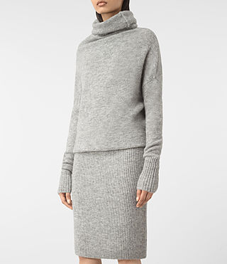 Mujer Rook Dress (Mid Grey Marl) - product_image_alt_text_2