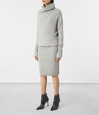Mujer Rook Dress (Mid Grey Marl) - product_image_alt_text_3