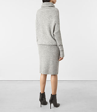 Mujer Rook Dress (Mid Grey Marl) - product_image_alt_text_4