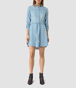 Womens Sanko Denim Dress (Indigo Blue) - product_image_alt_text_1