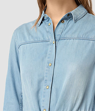Mujer Sanko Denim Dress (Indigo Blue) - product_image_alt_text_2