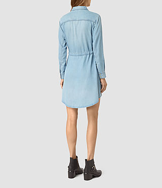Women's Sanko Denim Dress (Indigo Blue) - product_image_alt_text_5