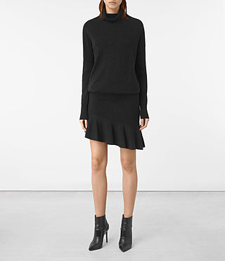 Womens Hava Dress (Cinder Black Marl)