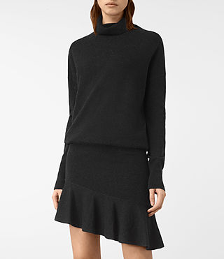 Femmes Hava Dress (Cinder Black Marl) - product_image_alt_text_3