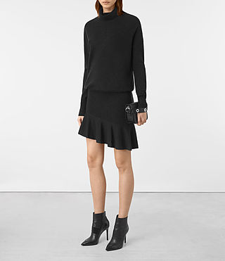 Femmes Hava Dress (Cinder Black Marl) - product_image_alt_text_4