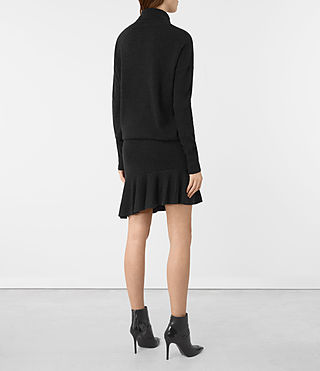Femmes Hava Dress (Cinder Black Marl) - product_image_alt_text_5