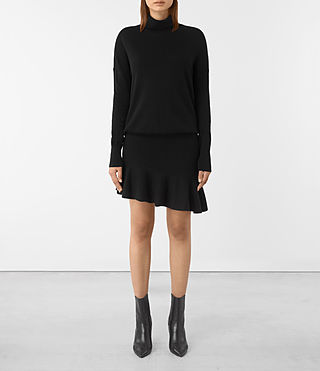 Womens Hava Dress (Black) - product_image_alt_text_1